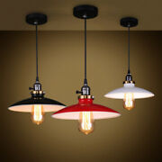 Modern Vintage Pendant Light Industrial Hanging Ceiling Lamp Fixture With Switch