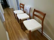 Niels Moller For Jl Moller 3 Mid Century Chairs Model 84 New