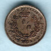 Essequibo And Demerary. 1832 1/8 Guilder.. Ef