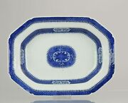 Antique 18c Large Serving Plate Jiaqing Qing Chinese Porcelain Blue And ...