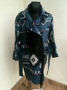 Bazar Deluxe Coat Jacket Mantel Indiana Aztec Print Size 42 Made In Italy