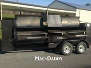 Brand New 2020 7and039 X 17and039 Open Bbq Smoker Trailer/mobile Bbq Unit For Sale In Alab