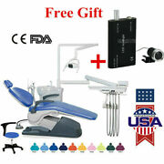 Dental Computer Controlled Unit Chair Leather W/ Stool Tj2688-a1+led Headlight