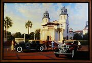 A Limited Edition Framed Lithograph By Stan Stokes Hearse Castle