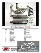 M4 Performance Motorcycle Exhaust Suzuki Tl-r 1999-03 Full System Polished Can