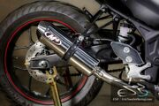 M4 Performance Motorcycle Exhaust Yamaha R3 2015-2020 Full System Polished Can
