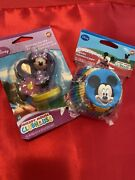 Disney Mickey And Minnie Mouse Baking Cups By Wilton And Birthday Candle