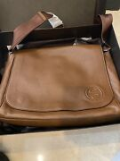 New Diaper Bag Brown Leather 15andrdquo X 10.5andrdquo W And U Lifestyle