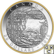 2015 Spring Ice 1916-tom Thomson Gold-plated Proof 20 Silver Coin 1oz 17442
