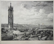 Vienna General View From South Original Lithography Trentsensky 1830