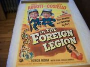 Abbott And Costello In The Foreign Legion  Poster  1950