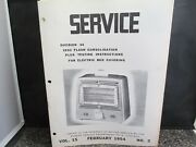 Vtg Sears Service Co. Arvin Heater Service Instr And Parts List Manual 5600 1955