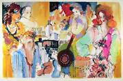 Batia Magal, Getting Together, Lithograph, Signed And Numbered In Pencil