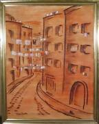 Winthrop Neilson Rome Street Oil On Canvas Signed