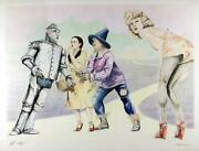 Robert Anderson Wizard Of Oz Lithograph Signed And Numbered In Pencil