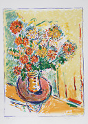 Wayne Ensrud Flower Flight Lithograph Signed And Numbered In Pencil