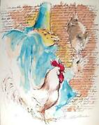 Leroy Neiman Punchinello With Text Lithograph On Arches Signed And Numbered I