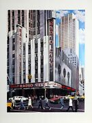 Ken Keeley Radio City Screenprint Signed And Numbered In Pencil