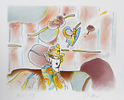 Peter Max Lady Of Fashion Ii Lithograph Signed And Numbered In Pencil