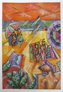 Graham Borough, Beach Design I, Lithograph, Signed And Numbered In Pencil