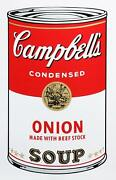 Andy Warhol Campbelland039s Soup Can Onion Screenprint Stamped Verso By Sunday B.