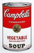 Andy Warhol Campbelland039s Soup Can Vegetable Screenprint Sunday B. Morning Stam