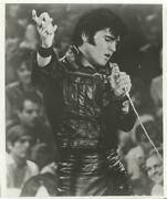 Unknown Artist, Elvis In Black Leather, Reproduction Photograph