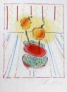 Peter Max Two Flowers Lithograph Signed In Pencil