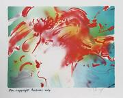Peter Max Spring Girl Lithograph On Arches Signed In Pencil