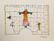 Peter Max Quadrillage Lithograph Signed And Numbered In Pencil
