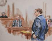 Marshall Goodman Courtroom 140 Watercolor On Paper