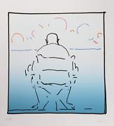 Peter Max Alfred Hitchcock Lithograph Signed In Pencil