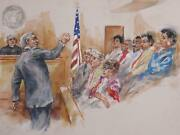 Marshall Goodman Courtroom 109 Watercolor On Paper