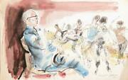 Marshall Goodman, Musical Dance Rehearsal Ii, Watercolor On Paper, Signed