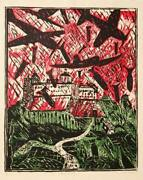 Italo Scanga Monte Cassino Woodcut Signed And Numbered In Pencil