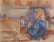 Marshall Goodman Courtroom060 Watercolor On Paper Signed