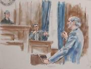 Marshall Goodman Courtroom 198 Watercolor On Paper