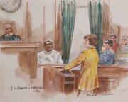 Marshall Goodman Us V. Camacho And Rodriguez Watercolor On Paper Signed