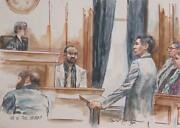 Marshall Goodman Us V. Jos. Devery Watercolor On Paper Signed