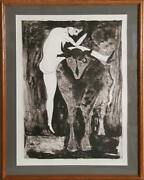Francisco Toledo Woman With Goat Lithograph Signed And Numbered In Pencil