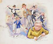 Marshall Goodman Bing Crosby And Fred Astaire 404 Watercolor On Paper Signe