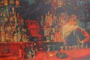 Leroy Neiman, Bar, Lithograph Poster, Signed In The Plate