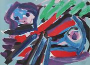 Karel Appel Walking With My Bird Lithograph On Arches Signed And Numbered In