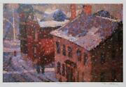 Tom Mathews, Victorian Brick, Lithograph, Signed, Numbered And Titled In Pencil