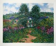 Jane Sutterman, View Of House From The Garden, Lithograph, Signed And Numbered I