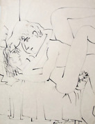 Knox Martin Untitled Ii Pen And Ink On Japon Paper Signed L.r.
