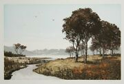 John Mcnulty River Bank Etching With Aquatint Signed And Titled In Pencil