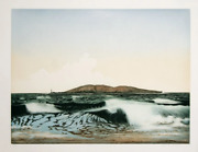 John Mcnulty Waves Aquatint Etching Signed And Titled In Pencil