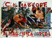 Mimmo Rotella The Beautiful Prey Screenprint With Collage Signed In Pencil L.