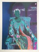 Sarah Churchill, Seated Woman, Lithograph, Signed And Numbered In Pencil